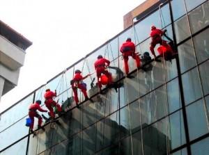 Клининг стеклянных зданий
