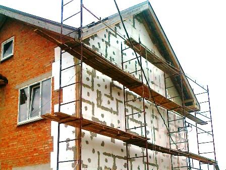 Утепление фасада частного дома в Киеве