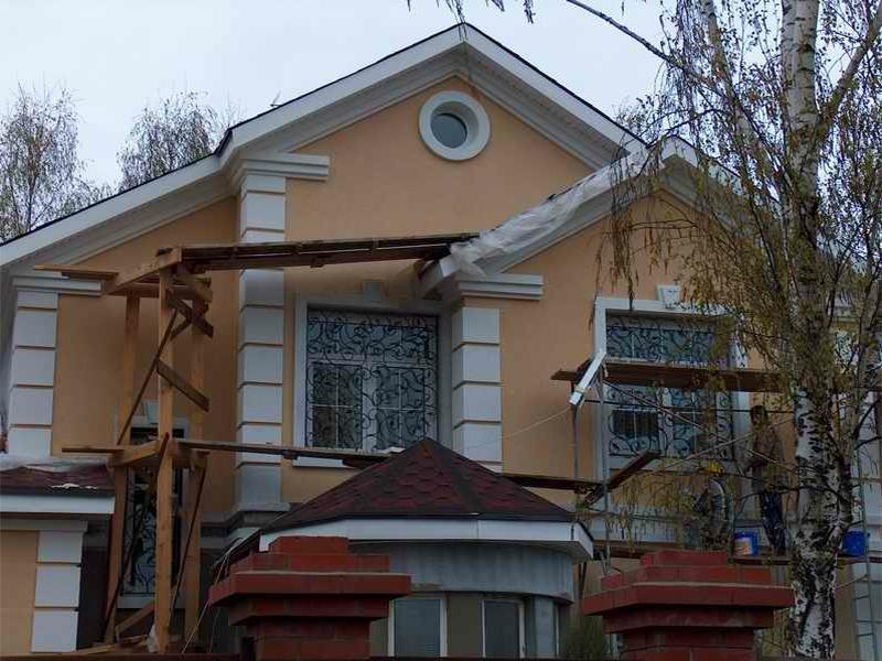 утепление домов пенопластом з нанесением штукатурок