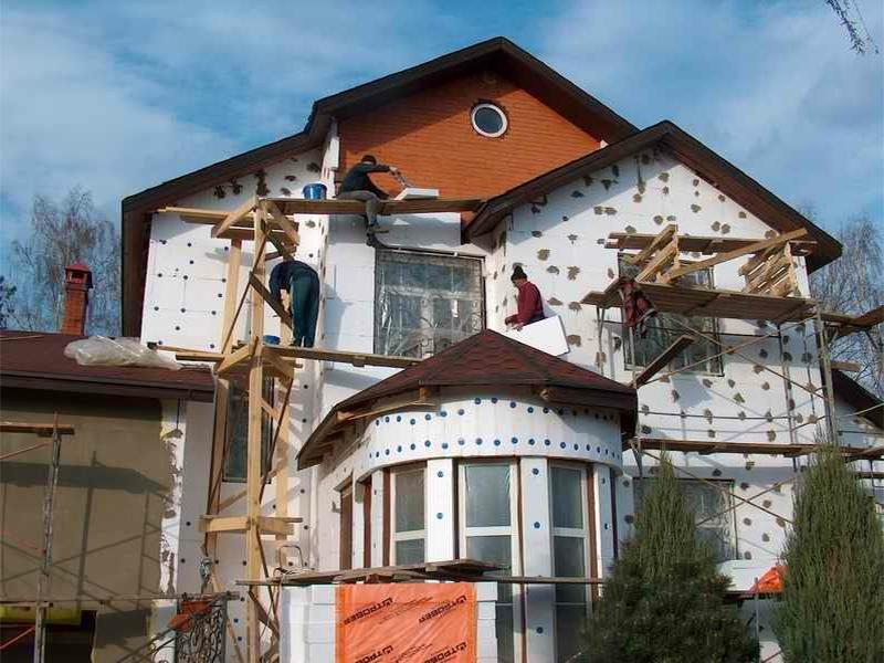 утепление дома пенопластом