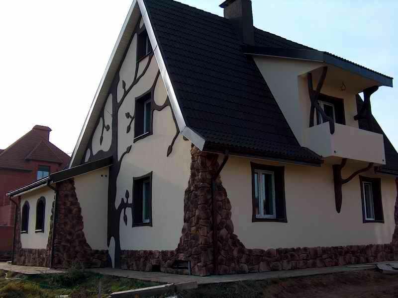 утепление дома отделка фасада камнем