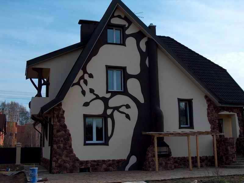 утепление отделка фасада камнем
