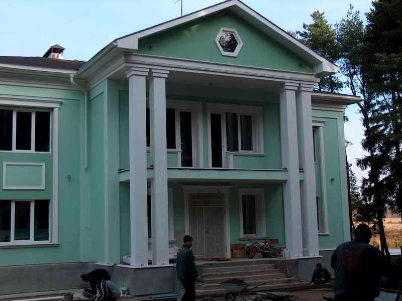 утепление фасада дома и декоративные элементы