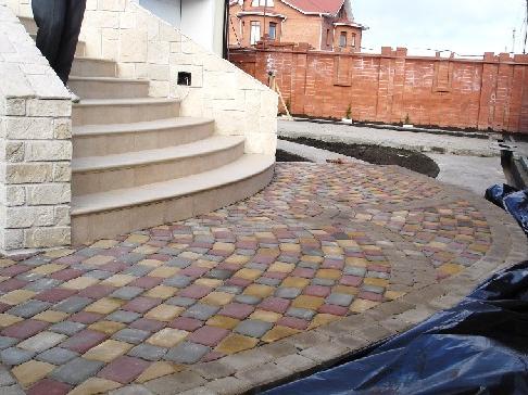 работы с тротуарной плиткой