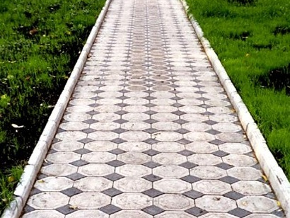 тротуарная дорожка из камня
