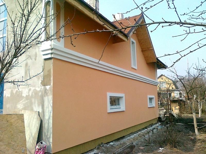 монтаж декоративных фасадных элементов