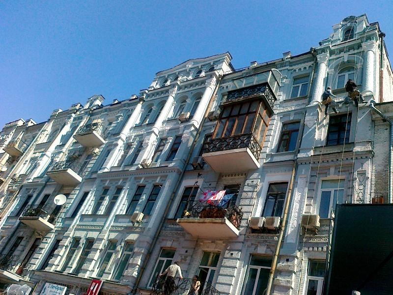 услуги альпинистов - ремонт фасадов киев