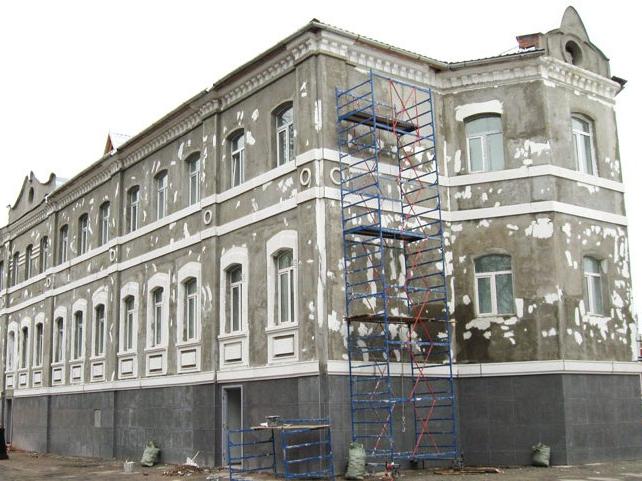 косметический ремонт фасада дома