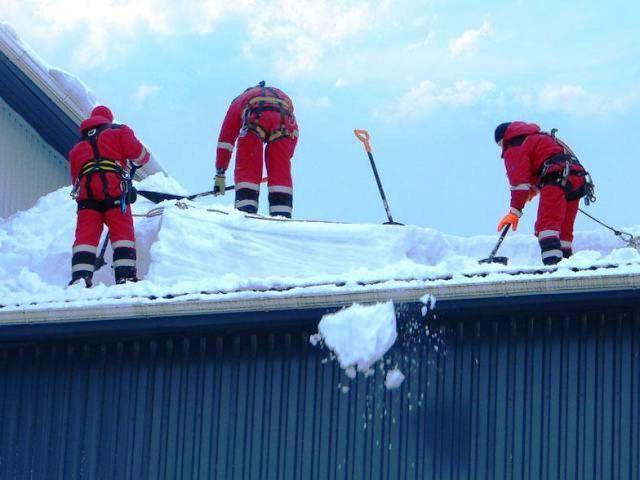 чистка крыш от снега киев