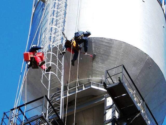 услуги альпинистов покраска башни